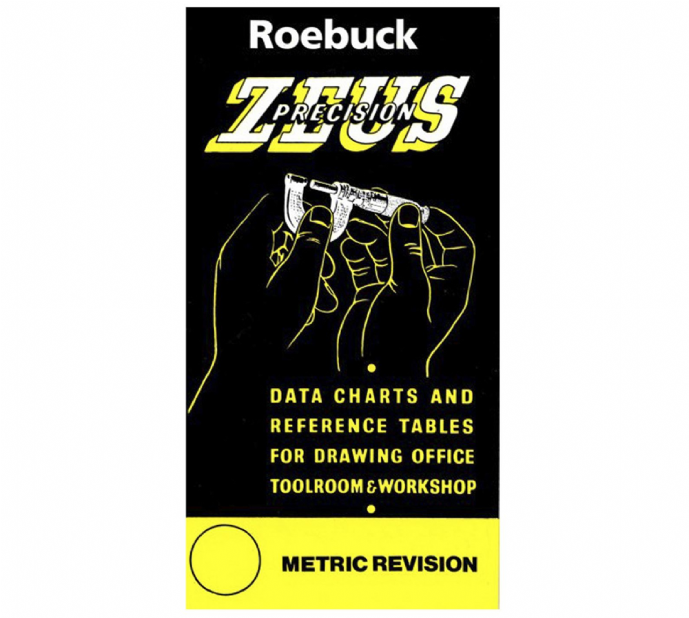 Zeus Precision Data Charts and Reference Tables for Drawing Office, Toolroom & Workshop